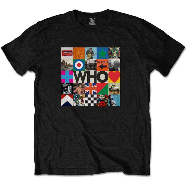 The Who - 5x5 Blocks Unisex Medium T-Shirt - Black