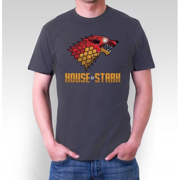 Game of Thrones House of Stark Dark Grey T-Shirt Large ZT