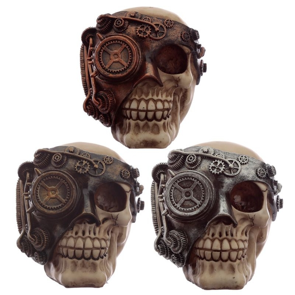 Steampunk Skull Head Ornament
