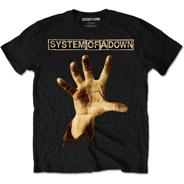 System Of A Down - Hand Unisex Medium T-Shirt - Black