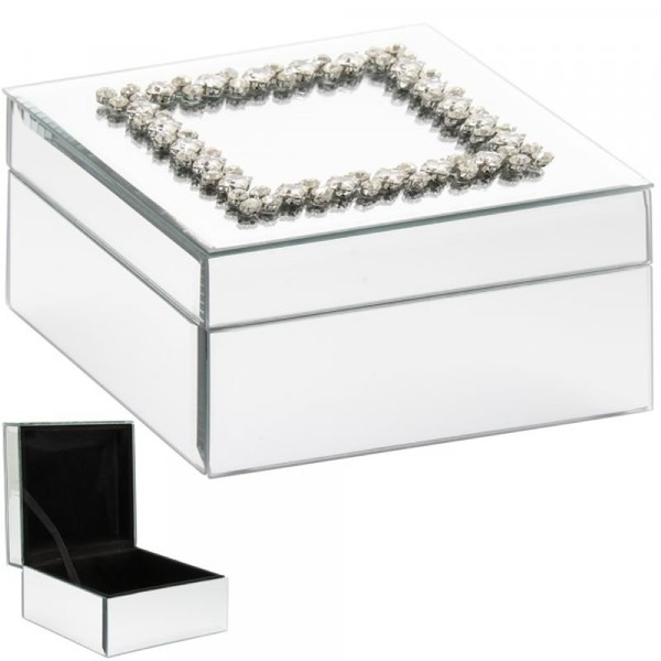 Mirrored Damante Jewellery Box By Lesser & Pavey