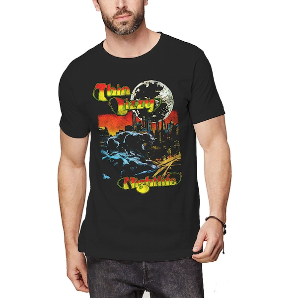 Thin Lizzy - Nightlife Colour Men's Medium T-Shirt - Black