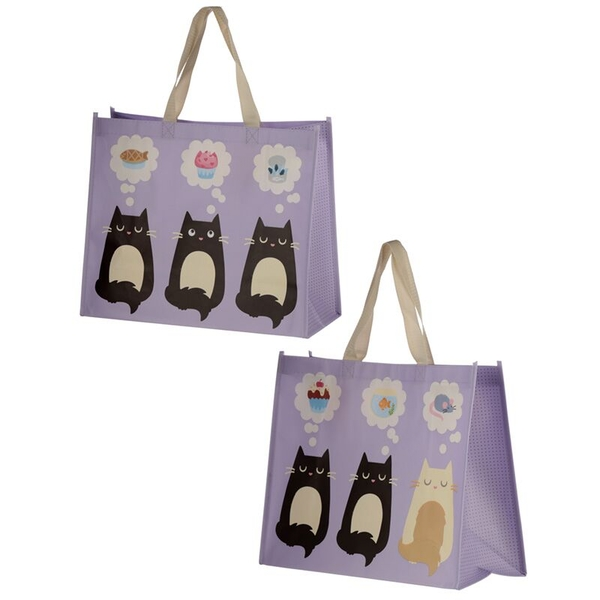 Feline Fine Cat Design Durable Reusable Shopping Bag