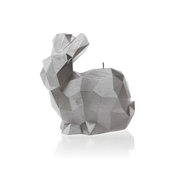 Silver Large Rabbit Candle