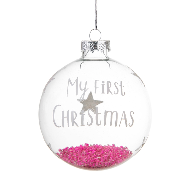 Sass & Belle Baby Girl First Christmas Bauble