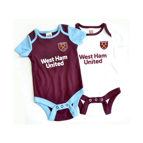 West Ham Two Pack Body Suit 2019 20 12-18 Months