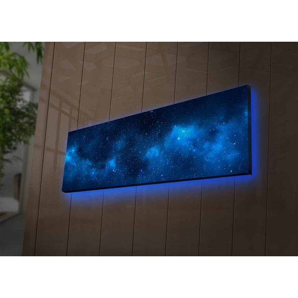 3090NASA-017 Multicolor Decorative Led Lighted Canvas Painting
