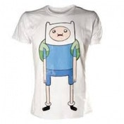 Adventure Time Finn T-Shirt Medium White