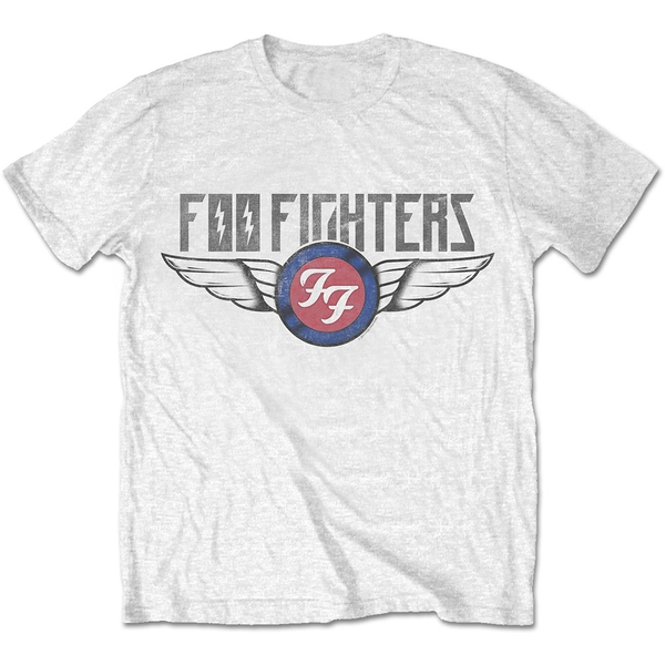 Foo Fighters - Flash Wings Unisex Small T-Shirt - White