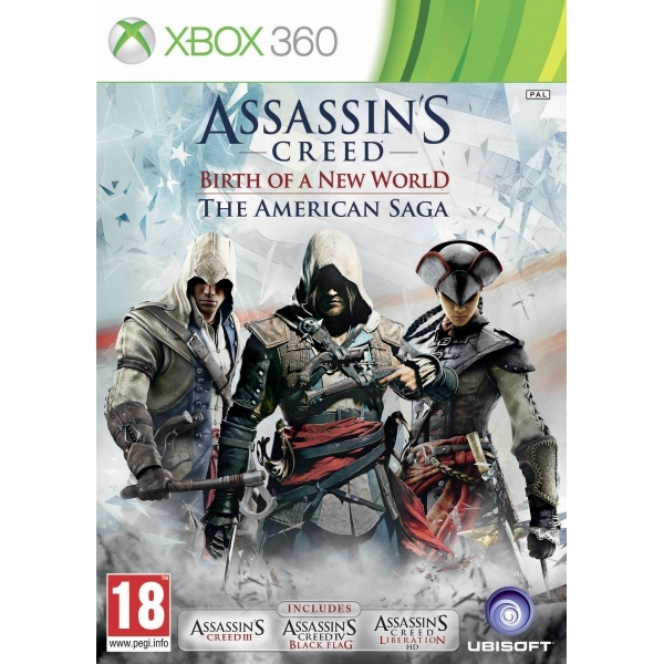 Assassin's Creed Birth of a New World The American Saga (AC3/Black Flag/Liberation) Xbox 360 Game