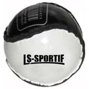 Hurling Club and County Sliotar Ball  Adult  Black/White