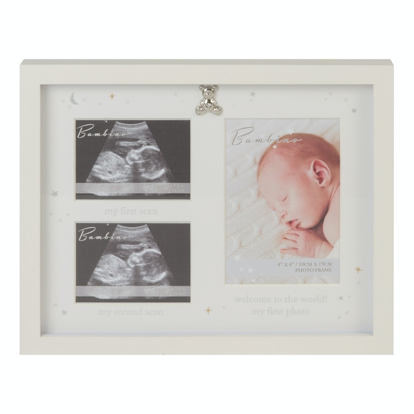 Bambino Ivory Scan Photo Frame With Teddy Icon