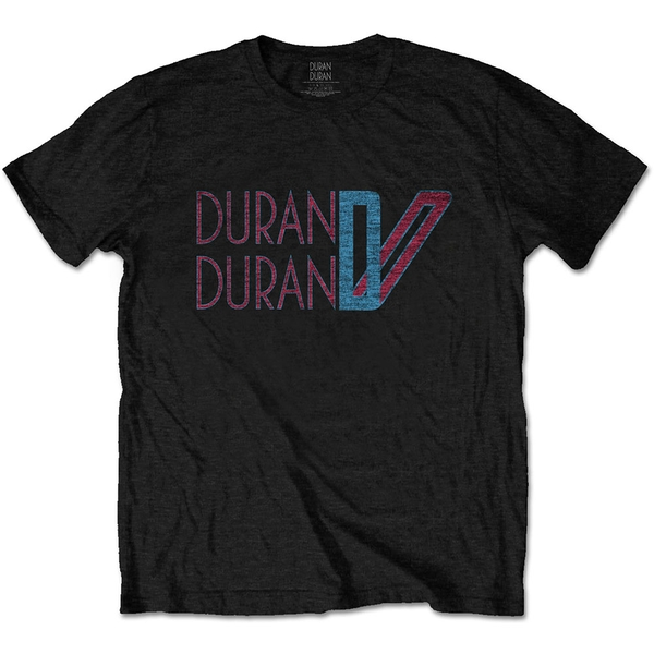 Duran Duran - Double D Logo Unisex Medium T-Shirt - Black