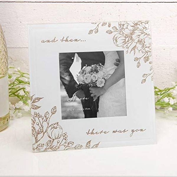 """4"""" x 4"""" - AMORE BY JULIANA? Gold Floral Frame There Was You"""