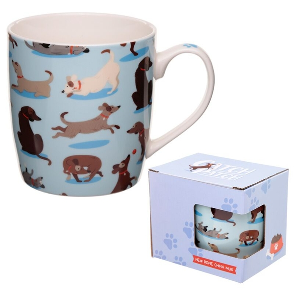 Catch Patch Dog New Bone China Mug