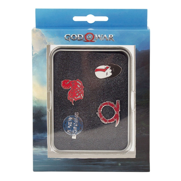 God Of War - Norse Wrath Pin Button Set (Multi-coloured)