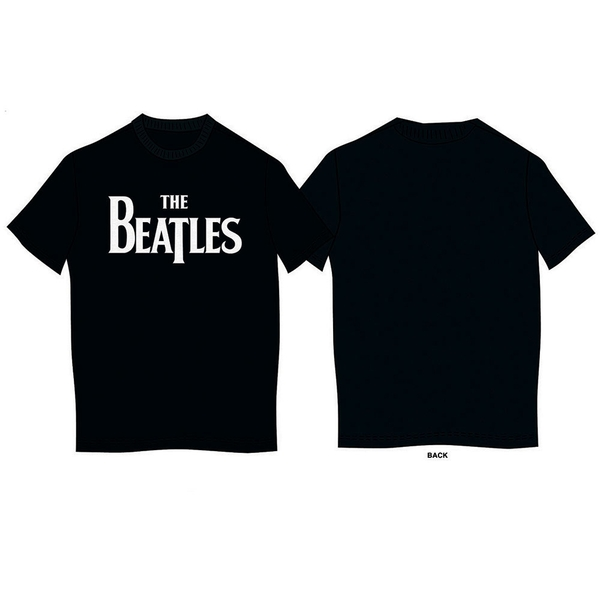 The Beatles - Drop T Logo Kids 5 - 6 Years T-Shirt - Black