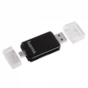 Hama 2 in 1 USB 2.0 OTG Card Reader SD/microSD