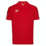 Sondico Venata Polo Shirt Youth 11-12 (LB) Red/White/Black