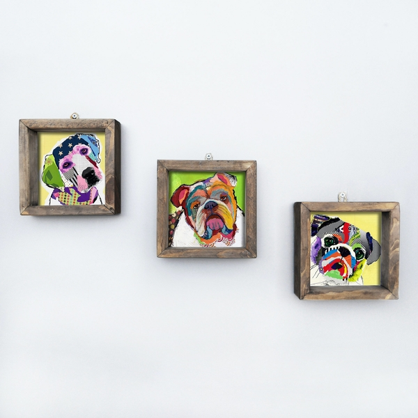 UKZM009 Multicolor Decorative Framed MDF Painting (3 Pieces)