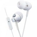 JVC HAFR325W Premium Sound In Ear Headphones with Remote &  Mic White