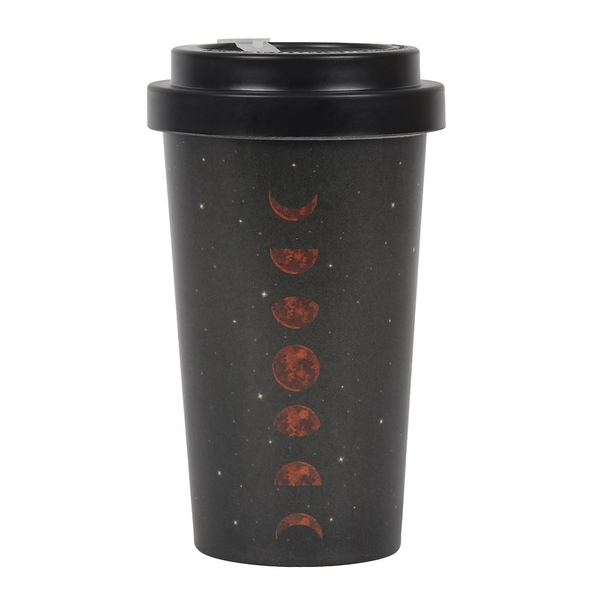 Moon Phases Bamboo Mug with Sleeve