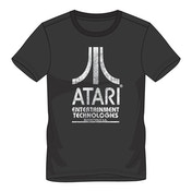 ATARI - Entertainment Technologies Logo Men's Small T-Shirt - Black
