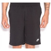Nike Mens Fleece Shorts Grey Medium Black