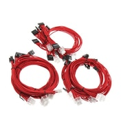 Super Flower Braided Cable Kit - Red