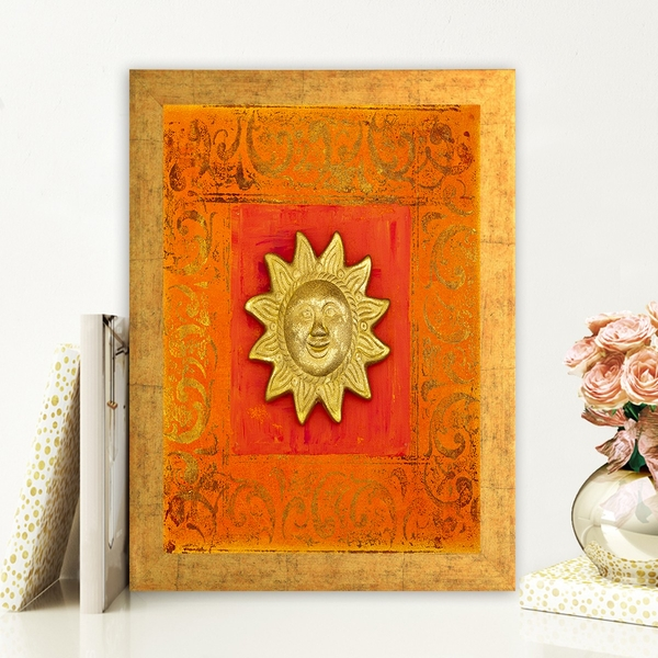AC72532555 Multicolor Decorative Framed MDF Painting