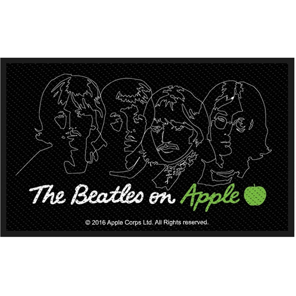 The Beatles - On Apple (White on Black) Standard Patch