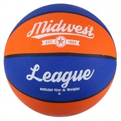 Midwest League Basketball Blue/Orange Size 7