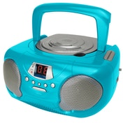 Groov-e GVPS713TL Boombox Portable CD Player with Radio Teal UK Plug