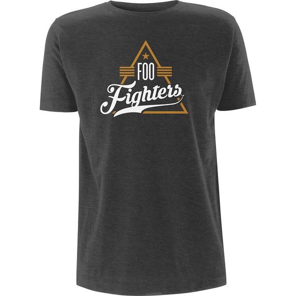 Foo Fighters - Triangle Unisex Large T-Shirt - Grey