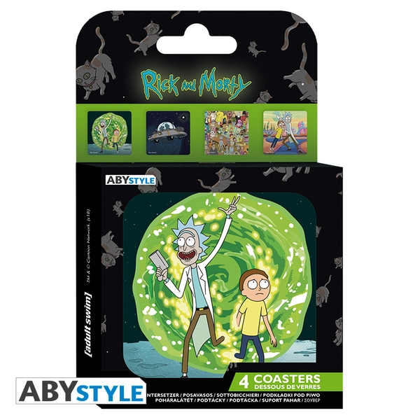 Rick And Morty - Generic Coasters (Set Of 4)