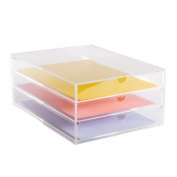 Acrylic Stationery & Paper Drawers Acrylic Paper Drawers (A4) Pukkr