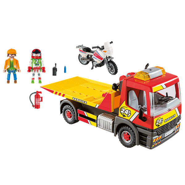 Playmobil -  City Life Vehicle World Breakdown Service with Flashing Lights Playset
