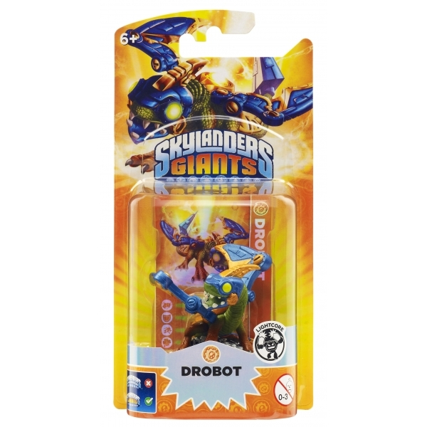 Lightcore Drobot (Skylanders Giants) Tech Character Figure - Image 1