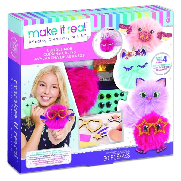 Make It Real - CuddleMob Pom Pom Characters Making Kit