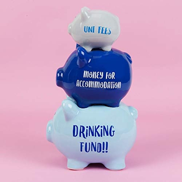 'Pennies & Dreams' Triple Piggy Bank - Drinking Fund