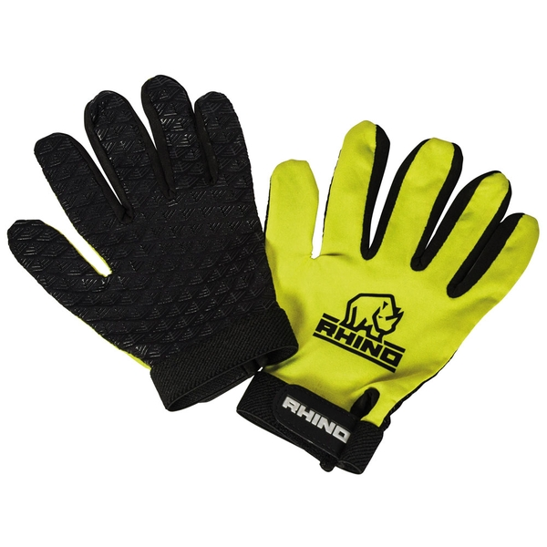 Rhino Pro Full Finger Mitts Yellow Junior XSmall/Small