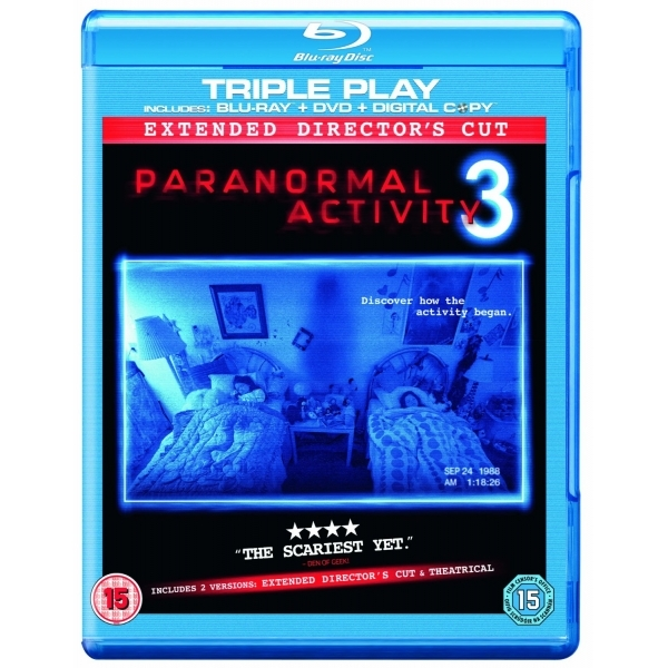 Paranormal Activity 3 Triple Play Blu-ray DVD and Digital Copy