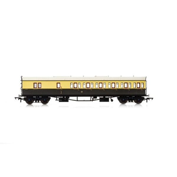 Hornby GWR Collett 57' Bow Ended D98 Six Compartment Brake Third (Right Hand) 5504 Era 3 Model Train