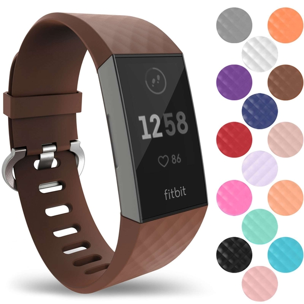 YouSave Activity Tracker Silicone Sports Strap - Brown (Small)
