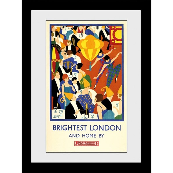 Transport For London Brightest London 2 60 x 80 Framed Collector Print - Image 1