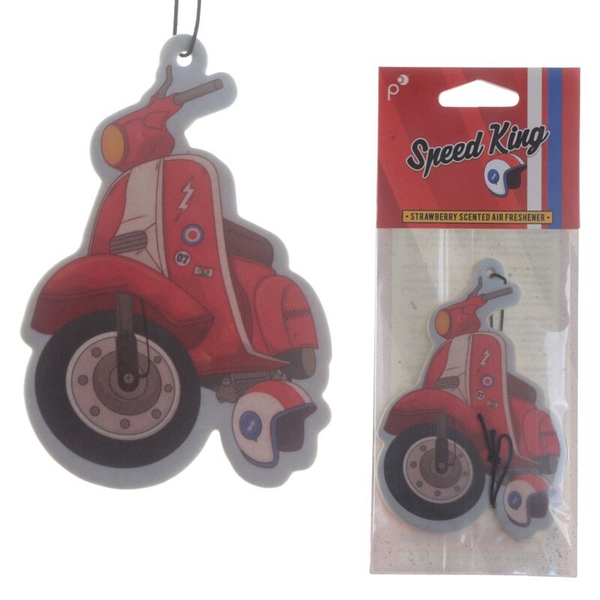 Scooter Design Strawberry Scented  (Pack Of 6) Air Freshener