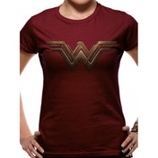 Batman Vs Superman - Wonder Woman Logo Fitted T-shirt Burgundy Large
