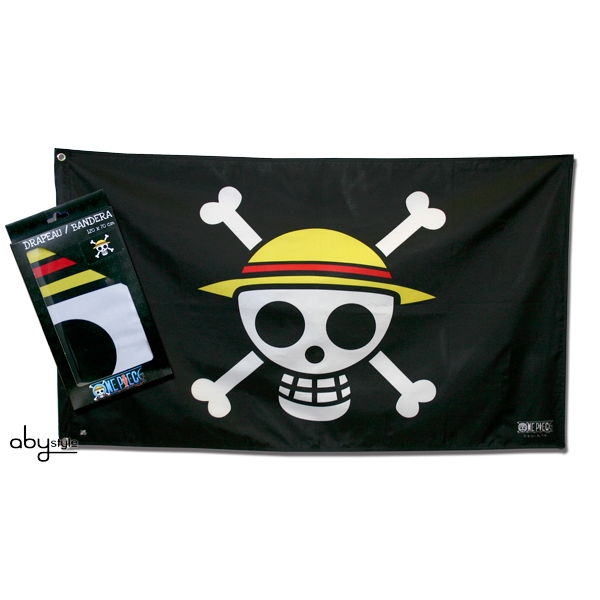 One Piece - Skull - Luffy (70 x 120cm) Large Flag
