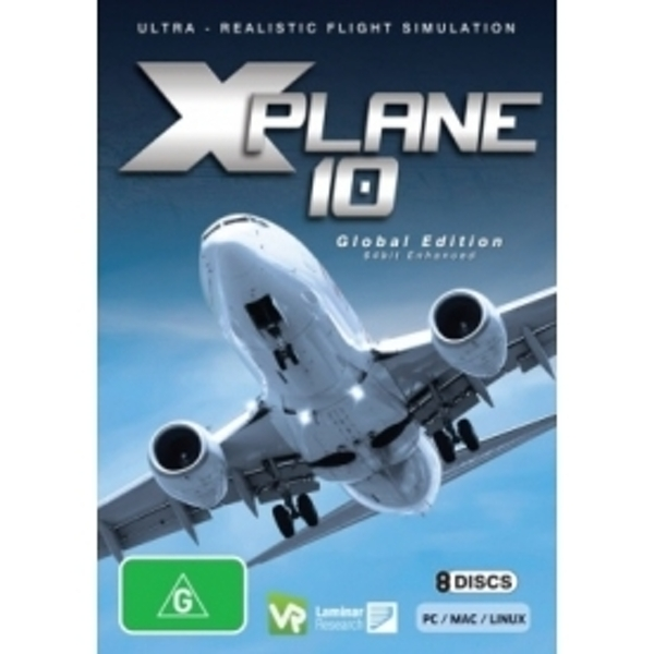 Ex-Display X-Plane 10 (Global Version - Optimised for 64-bit) PC & MAC Game  (Aus PAL) Used - Like New