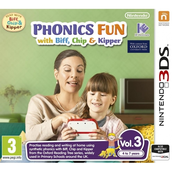 Phonics Fun with Biff, Chip & Kipper Volumes 3 3DS Game